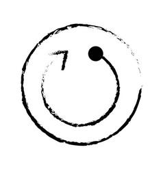 Button with refresh arrow icon vector