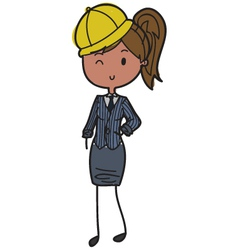 Female builder vector