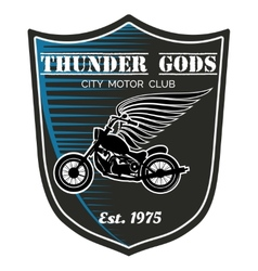 Motorcycle club label - thunder gods vector