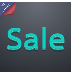 Sale tag icon symbol 3d style trendy modern design vector
