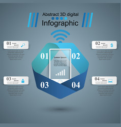 3d infographic design template and marketing icons vector