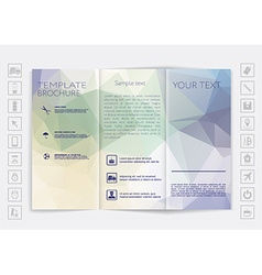 Tri-fold brochure mock up design vector