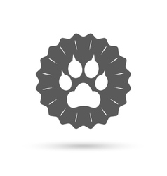 Dog paw with clutches sign icon pets symbol vector