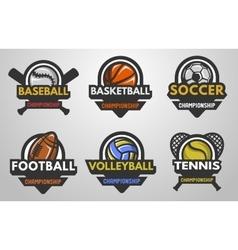 Set of sports logos vector image