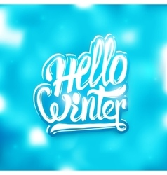 Hello winter greeting card background vector