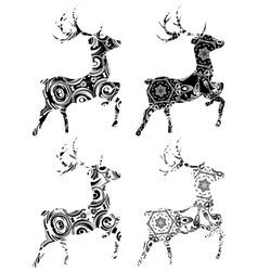Cartoon ornamental deer4 vector