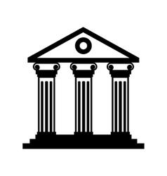 Black historical building icon vector