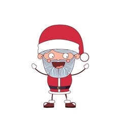 funny Christmas santa claus character isolated vector image