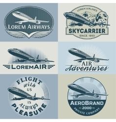 Air badges color1 vector