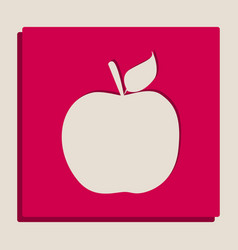 Apple sign grayscale version vector