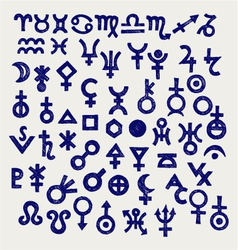 Astrological symbols vector image