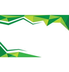 Background trangle green vector