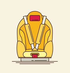 Car seat child safety flat vector