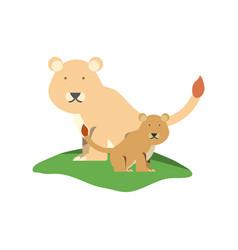 Cartoon lioness icon vector