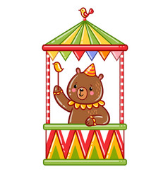 circus bear vector image vector image