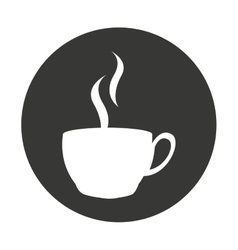 coffee cup delicious isolated icon vector image