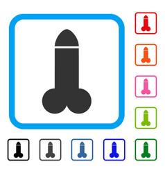Dildo framed icon vector