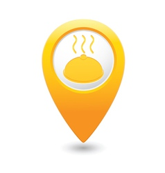 Dish map pointer yellow vector