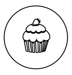 Figure emblem muffin icon vector