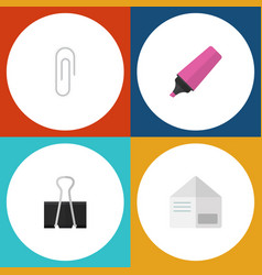 flat icon tool set of fastener page marker vector image vector image