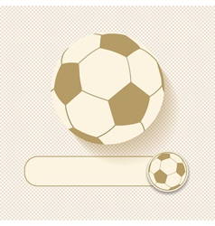 football and banner vector image vector image