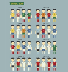 Group world cup2014 vector image vector image