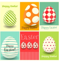 Happy Easter Greeting Cards vector image vector image