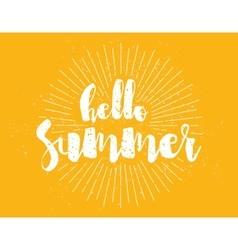 Hello summer text Positive vector image vector image