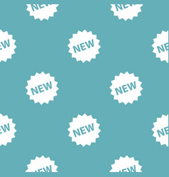 new sign pattern seamless blue vector image