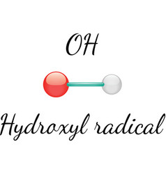 Oh hydroxyl radical vector