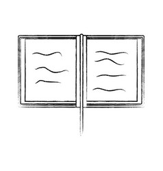 open book icon image vector image