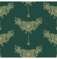 Ornamental seamless ethnic pattern floral design vector