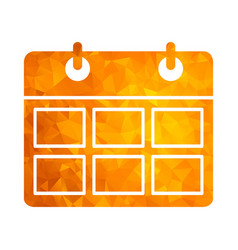 polygon golden icon calendar vector image vector image