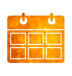 Polygon golden icon calendar vector