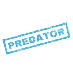 Predator rubber stamp vector