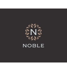 Premium monogram letter n initials logo universal vector
