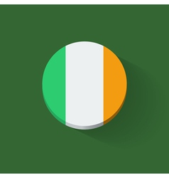 Round icon with flag of ireland vector
