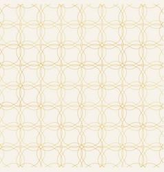 seamless pattern golden decorative design vector image vector image
