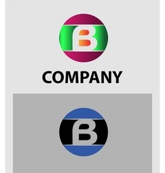 Set of letter B logo icons design template element vector image vector image