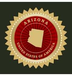 Star label Arizona vector image