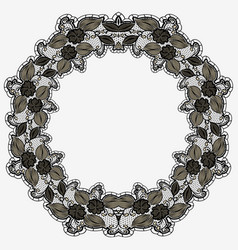 vintage lace frame isolated on white background vector image vector image
