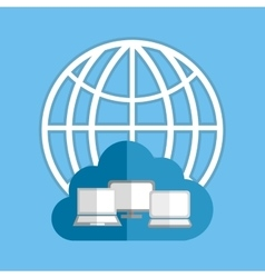 Cloud computing technology vector