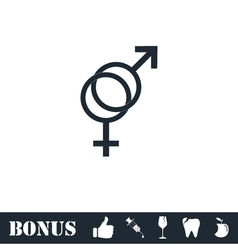 Gender icon flat vector