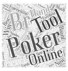 Online poker tools word cloud concept vector