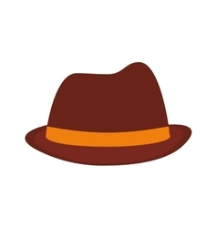 hat fedora ribbon father day vector image