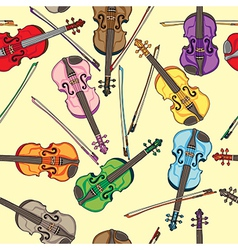 violin pattern vector image