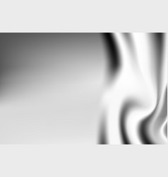Silver textile drapery horizontal background with vector