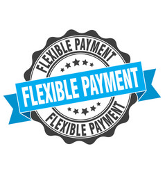 Flexible payment stamp sign seal vector