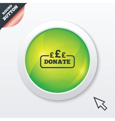 Donate sign icon pounds gbp symbol vector