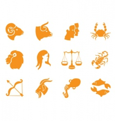 Zodiac signs vector